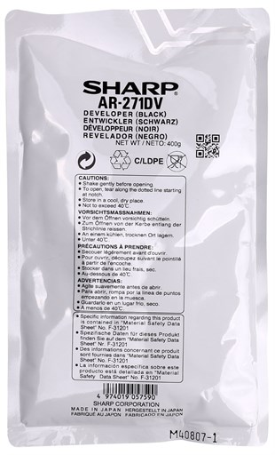 Sharp AR-271 Orginal  Developer AR-M 215-235-236-257-276- 5625-5631